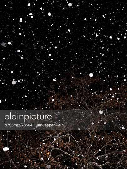 Snowfall at night - p795m2278564 by JanJasperKlein