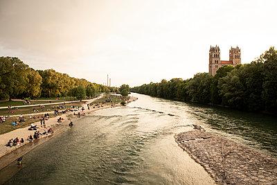 Isar in München - p1222m1589914 von Jérome Gerull