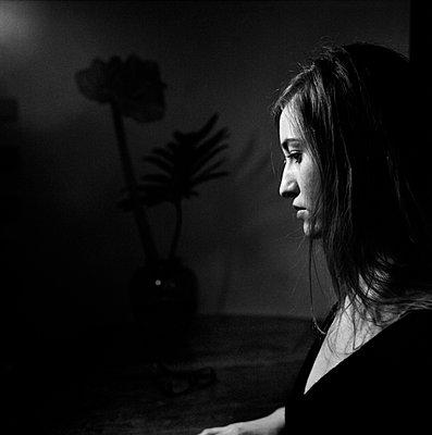 Sad woman - p9510002 by Caterina Sansone