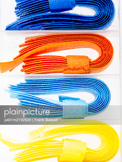 Colourful velcro straps - p401m2192520 by Frank Baquet