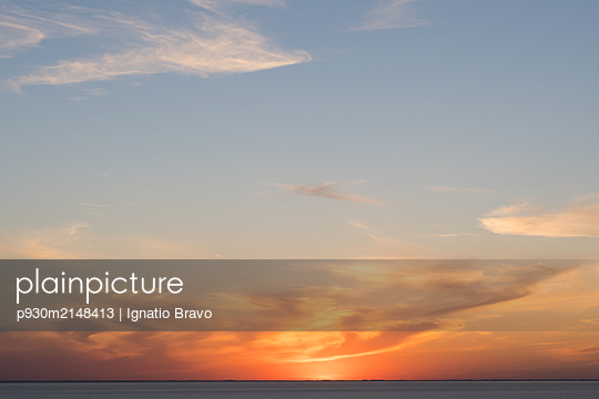 Sunset by the sea - p930m2148413 by Ignatio Bravo