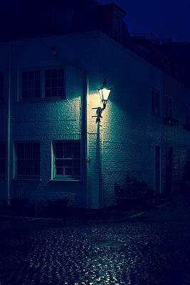 House with wall lantern - p1170m1516278 by Bjanka Kadic