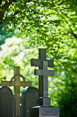 Kreuz auf dem Alten Südfriedhof, München, Bayern, Oberbayern, Deutschland - p1316m1160549 von Peter von Felbert