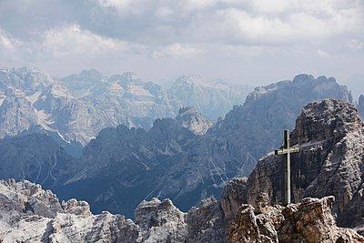 Via Ferrata, Monte Cristallo, Dolomites, Italy - p429m1022936 by Stephen Lux