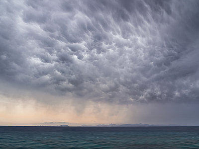 Mammatus storm clouds  - p1280m2126804 by Dave Wall