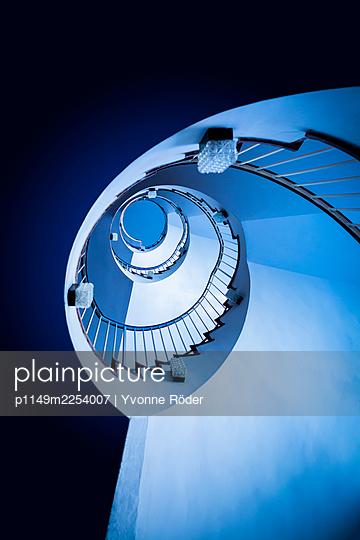 Spiral staircase - p1149m2254007 by Yvonne Röder