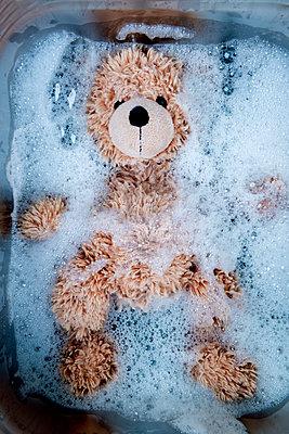 Teddy in the sink - p451m2281205 by Anja Weber-Decker