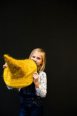 The girl with yellow hat of a wizard - p1412m1516780 by Svetlana Shemeleva