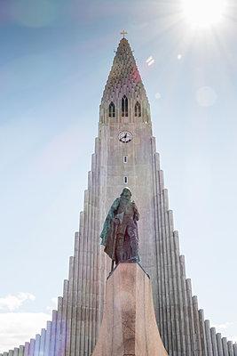 Reykjavik, Hallgrímskirkja - p741m2108941 von Christof Mattes