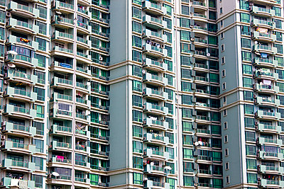 High rise tenement apartment blocks in Shanghai - p871m873333 by Tim Graham