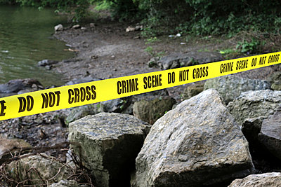 Crime Scene at a River I - p1019m808006 by Stephen Carroll