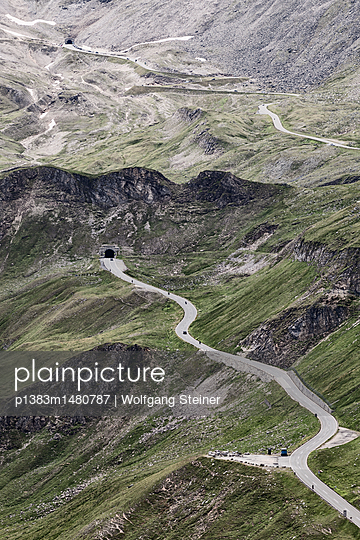 Grossglockner High Alpine Road with a view to the Hochtor tunnel - p1383m1480787 by Wolfgang Steiner