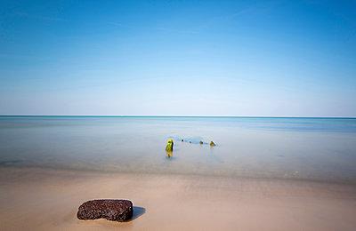Flotsam on the Baltic sea beach, Ahrenshoop, Darss, Mecklenburg Vorpommern, Germany - p1316m1202892 by Christoph Olesinski