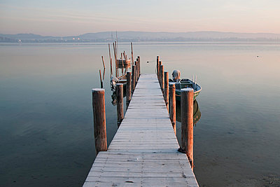 Jetty on Lake Constance - p300m818747f by Brigitte Stehle