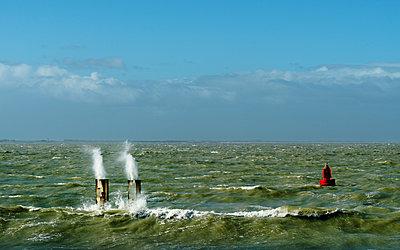 Storm at Westerschelde - p1132m1015204 by Mischa Keijser