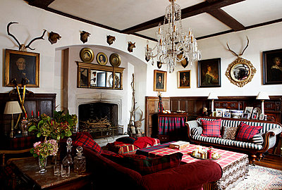 Drawing room of Grade I listed Elizabethan manor house in Kent  - p349m789803 by Brent Darby