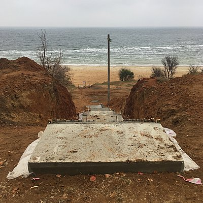 Ukraine, Odessa, Unfertige Treppe - p1401m2184892 von Jens Goldbeck