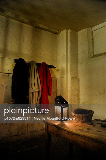 An 18th century guards room inside the Palaos de Justice in Paris - p1072m829314 by Neville Mountford-Hoare