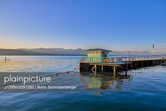 Germany, Lindau, Lake public baths - p1299m2297283 by Boris Schmalenberger