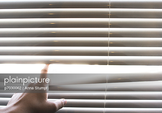 Looking through venetian blind - p7030062 by Anna Stumpf