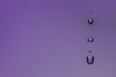 Water drops purple - p1544m2116086 by Mirka van Renswoude