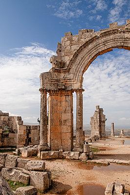 Frühbyzantinisches Kloster des Simeon, Simeonskloster, Aleppo, Syrien - p1493m2063596 von Alexander Mertsch