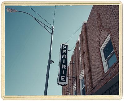 Prairie Theater Sign - p1154m1138592 by Tom Hogan