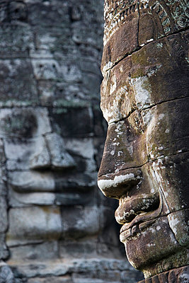 Detail Of Some Of The 216 Giant Faces Of Avalokiteshvara. - p644m727643 by Toby Adamson