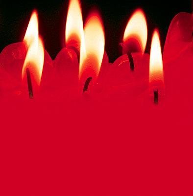 Rote Kerzen - p4500020 von Hanka Steidle