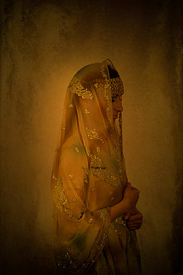 Profile of an Indian woman in sari - p7940254 by Mohamad Itani