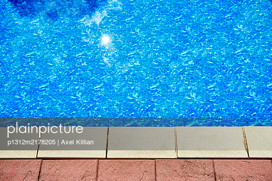 Pool with tiles - p1312m2178205 by Axel Killian