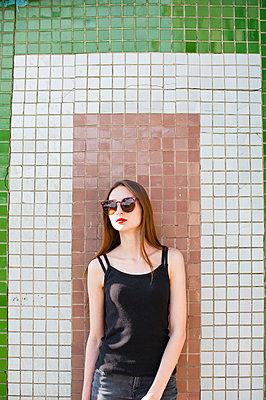 Portrait of a girl in sunglasses - p1412m1467264 by Svetlana Shemeleva