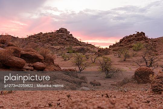 Namibian landscape - p1273m2259822 by Melanka Helms