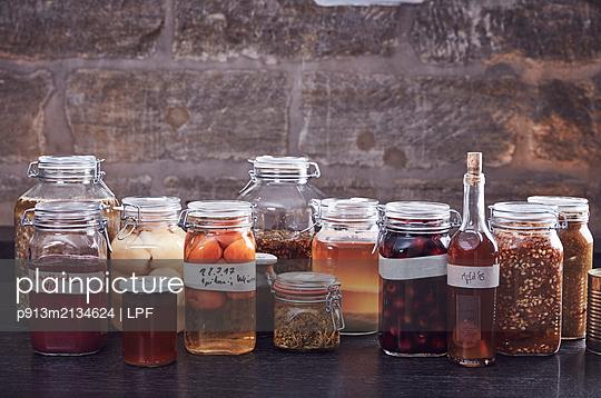 Variety of preserving jars  - p913m2134624 by LPF