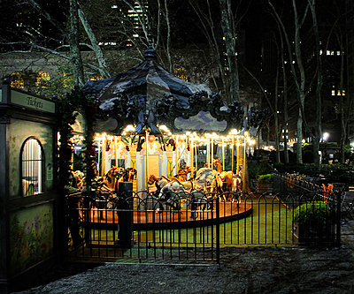 Carousel at night - p1072m829441 by Neville Mountford-Hoare