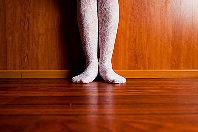 Woman with white stockings - p4130706 by Tuomas Marttila