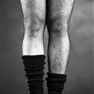 Man in socks with hairy legs - p8130100 by B.Jaubert