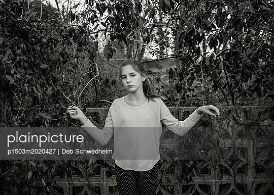 Girl Standing - p1503m2020427 by Deb Schwedhelm