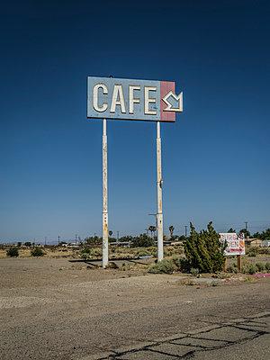 Cafe, Nevada - p1232m1041113 by Moritz Schmid
