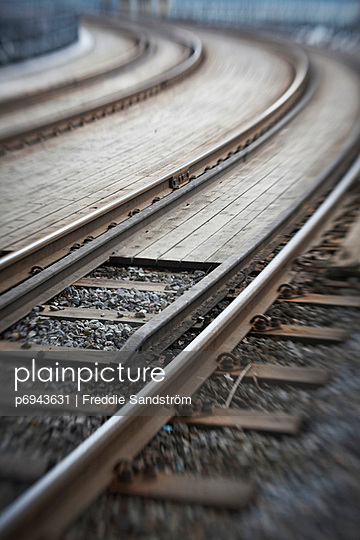 Curved Railroad Track - p6943631 by Freddie Sandström