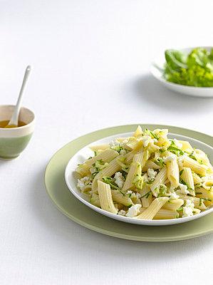 Close up of bowl of pasta - p429m659721f by Brett Stevens