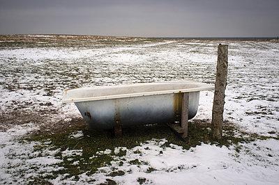 Badewanne auf der Wiese - p1046m779093 von Moritz Küstner