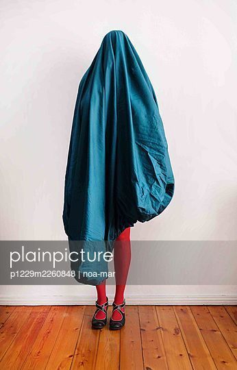 Woman under a bed sheet - p1229m2260848 by noa-mar