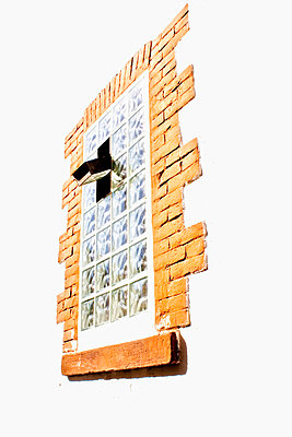 Window made of glass bricks - p580m762824 by Eva Z. Genthe