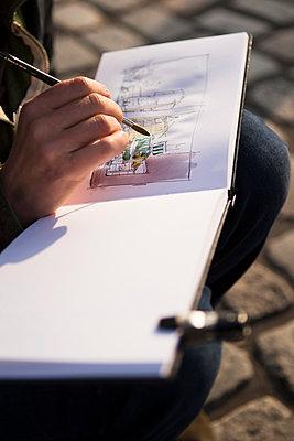 Urban Sketcher - Zeichner - p1222m1104785 von Jérome Gerull