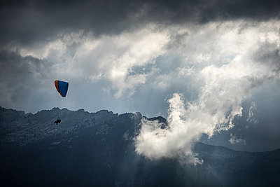 France, Aravis, Paragliding in the Alps - p1007m2216503 by Tilby Vattard