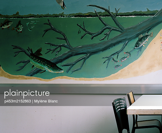 Wall painting - p453m2152863 by Mylène Blanc