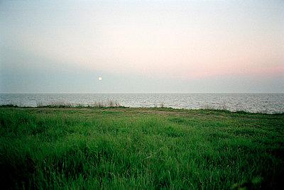 Seascape in moonlight - p3881639 by Ulrike Leyens