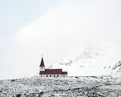 Church at Iceland - p1105m1222080 by Virginie Plauchut