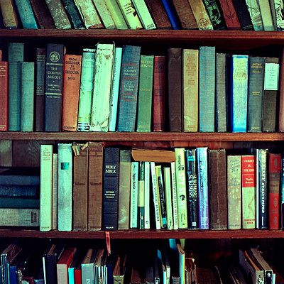 Shelves of Books - p694m720302 by Aline Smithson photography